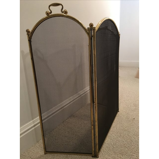 Antique Arched Fire Screen - Image 4 of 4