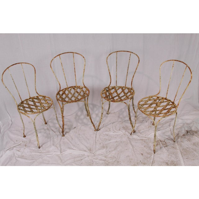 19th Century French Garden Chairs - Set of 4 For Sale In New Orleans - Image 6 of 6