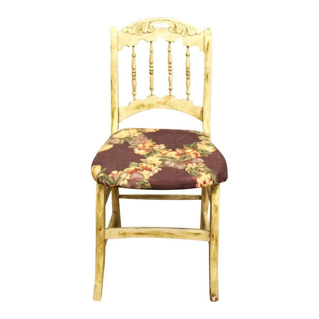 Pair of Wooden Chairs With Floral Seat - Image 4 of 10