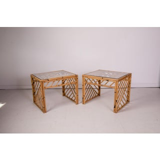 1950s Bamboo Fretwork Side Tables - a Pair Preview