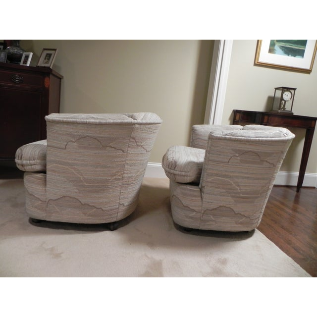 Drexel Contemporary Classics Barrel Chairs - Pair For Sale - Image 5 of 6