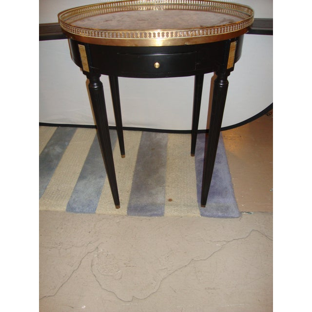1940s Louis XVI Style Bouillotte End Tables - A Pair For Sale - Image 5 of 11