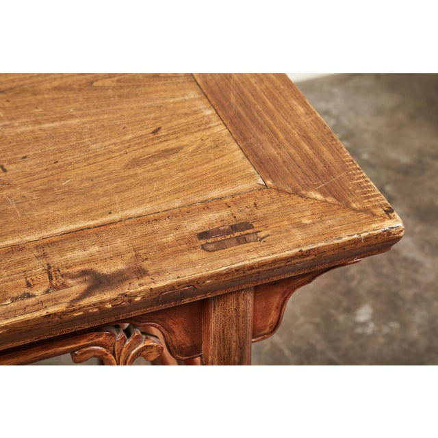 Wood Late 19th C. Chinese Side Tables - a Pair For Sale - Image 7 of 9