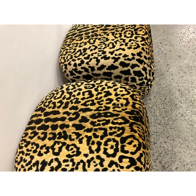 1970s Vintage Poof Ottomans, a Pair For Sale - Image 5 of 8