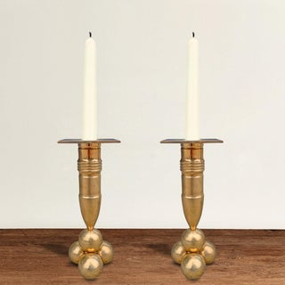 Mid 20th Century Bronze Candlesticks by Gusum Mässing - a Pair Preview