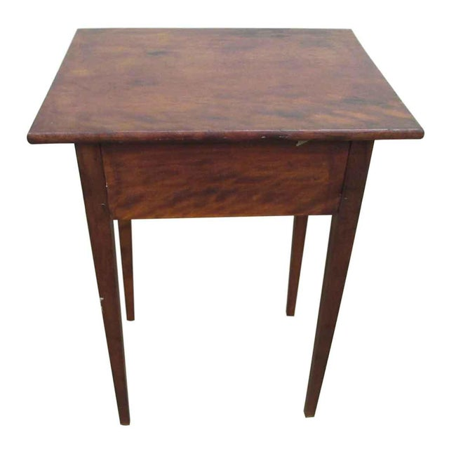 Brown Single Drawer Wooden End Table For Sale - Image 8 of 8