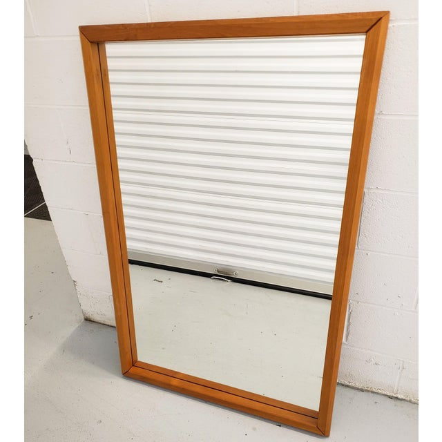 Danish Modern Wall Mirror By Westnofa. Constructed Of Solid Teak, And Made To Be Hung Vertically But Can Also Be Mounted...