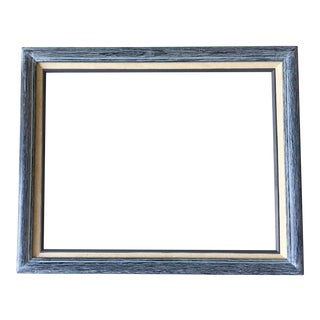 Blue Wood & Linen Matte Frame