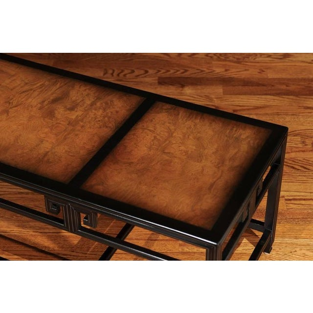 """Elegant Burl Inlay Coffee Table, """"Far East"""" Collection by Baker For Sale In Atlanta - Image 6 of 11"""
