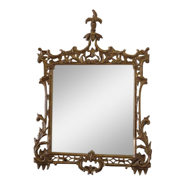 19th Century Carved Chippendale Style Gilt Mirror - Image 1 of 6
