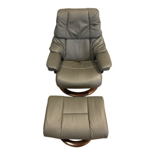 Ekornes Stressless Reno Chair & Ottoman For Sale