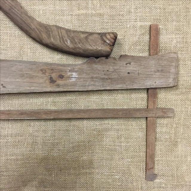 Antique Rustic Wooden Yoke - Image 3 of 5