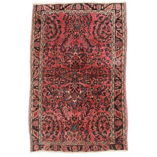 "RugsinDallas Antique Persian Sarouk Rug - 3'4"" X 5' For Sale"