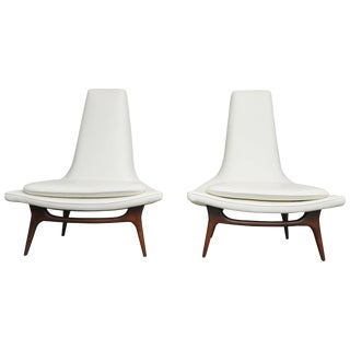 Karpen High Back Lounge Chairs For Sale