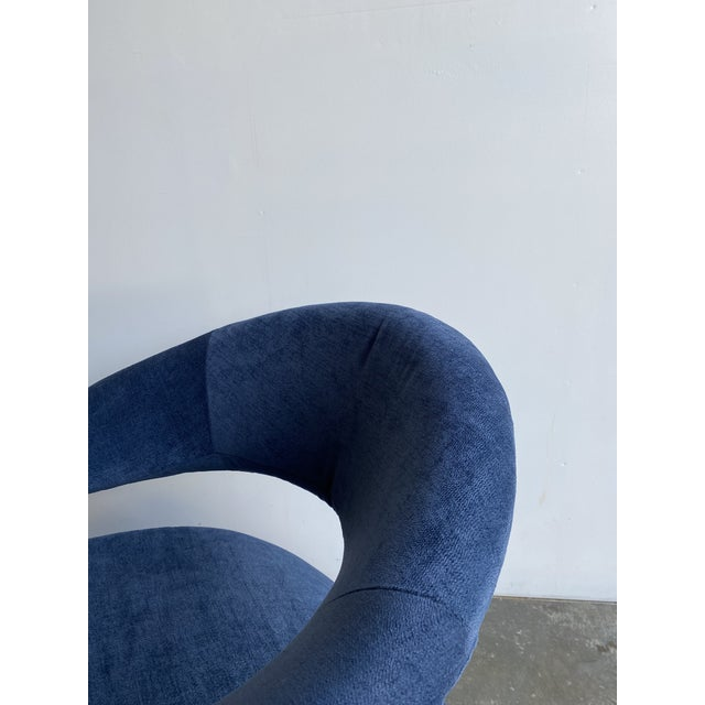 1980s Vintage Memphis Sculptural Cantilever Chairs and Ottoman For Sale In Los Angeles - Image 6 of 13