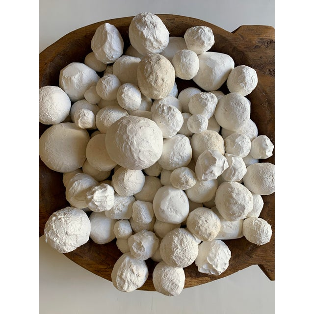 Contemporary Modern Plaster Decorative Ball Accents - 30 Pieces For Sale - Image 3 of 4