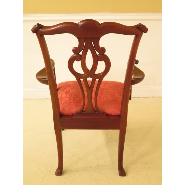 2000s Baker Chippendale Mahogany Dining Room Chairs - Set of 10 For Sale - Image 5 of 13