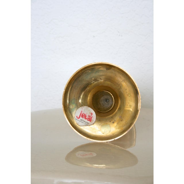 Mid 20th Century Vintage Jere's Interiors Brass Candlestick For Sale - Image 4 of 5