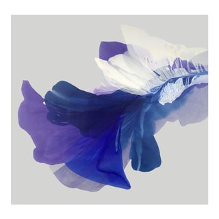 'Fostering Violets Like Hugs' by Marta Spendowska, 2019. Contemporary Abstract Floral Mixed Media on Canvas For Sale