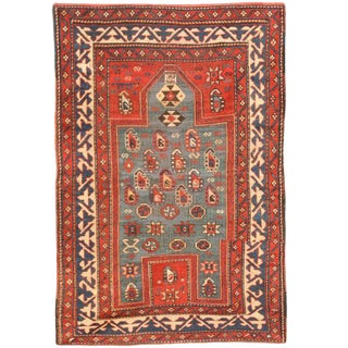 Antique 19th Century Caucasian Kazak Rug For Sale
