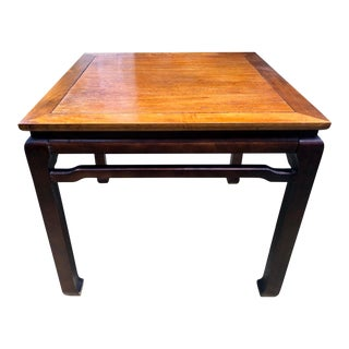 Chinoiserie Two Tone Wooden Ming Coffee Table For Sale