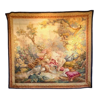 19th Century French Aubusson Allegorical Wall Tapestry For Sale