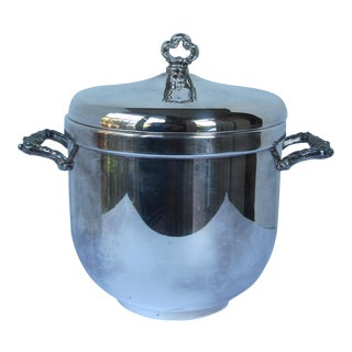 Vintage Silverplate Ice Bucket With Lid For Sale