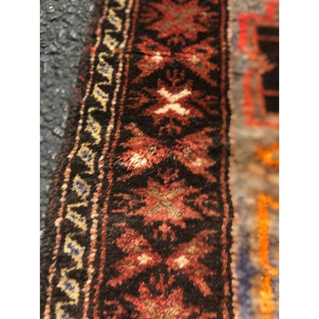 Vintage Persian Hamadan Rug - 2′1″ × 4′9″ - Image 9 of 9