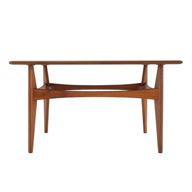 Danish Mid-Century Modern Teak Square Coffee Side Table For Sale In New York - Image 6 of 8