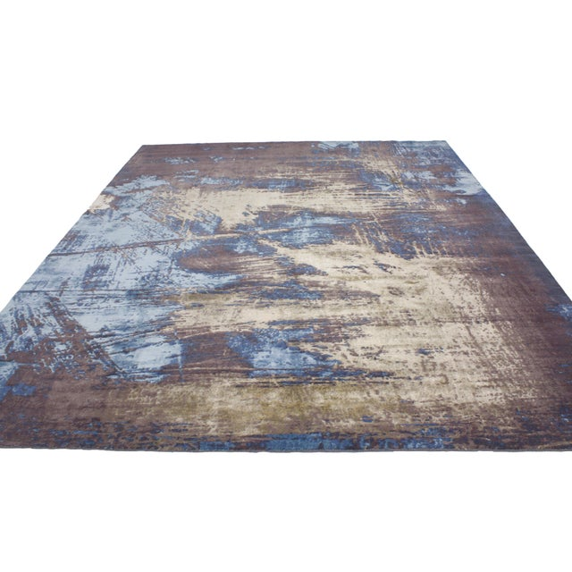 "Contemporary Abstract Scratch Texture Rug - 8'7"" x 9'11"" - Image 5 of 7"