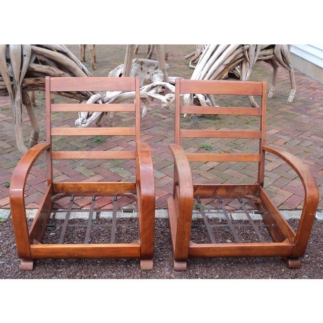 Mid-Century Club Chairs - A Pair - Image 5 of 11