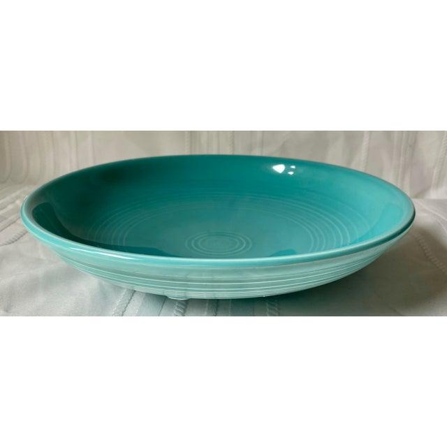 Ceramic 1990s Vintage Fiesta Ware Blue Teal Serving Bowl For Sale - Image 7 of 7