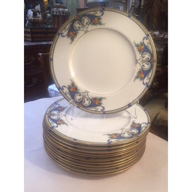 Royal Worcester Porcelain Dinner Plates - Set of 12 For Sale - Image 11 of 12
