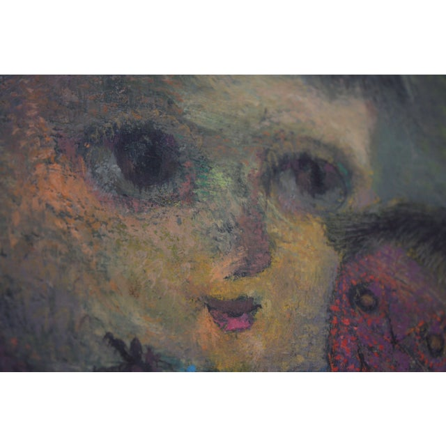 Karnig Nalbandian 'Blue Doll' Oil on Canvas, 1953 For Sale In New York - Image 6 of 11