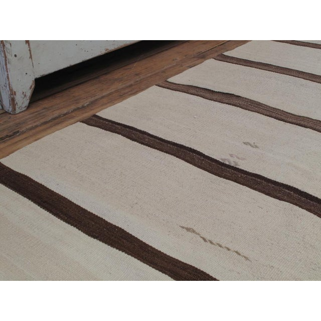 Traditional Banded Kilim Wide Runner For Sale - Image 3 of 8