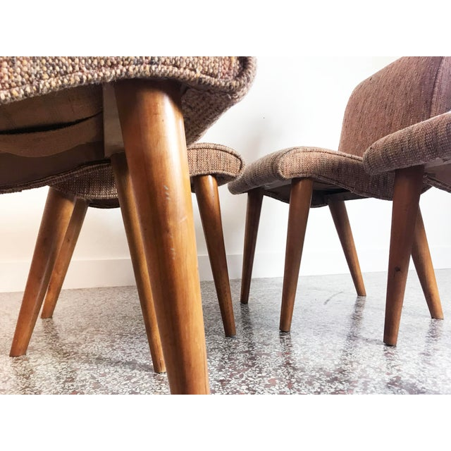 Russel Wright Scoop Dining Chairs - Set of 4 For Sale - Image 10 of 13