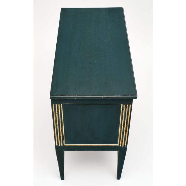 Late 19th Century Antique French Louis XVI Style Painted Walnut Chest For Sale - Image 5 of 9