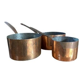 Vintage Copper Sauce Pans For Sale