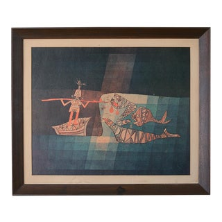 1960s Vintage Paul Klee Cubist Sinbad the Sailor Print For Sale
