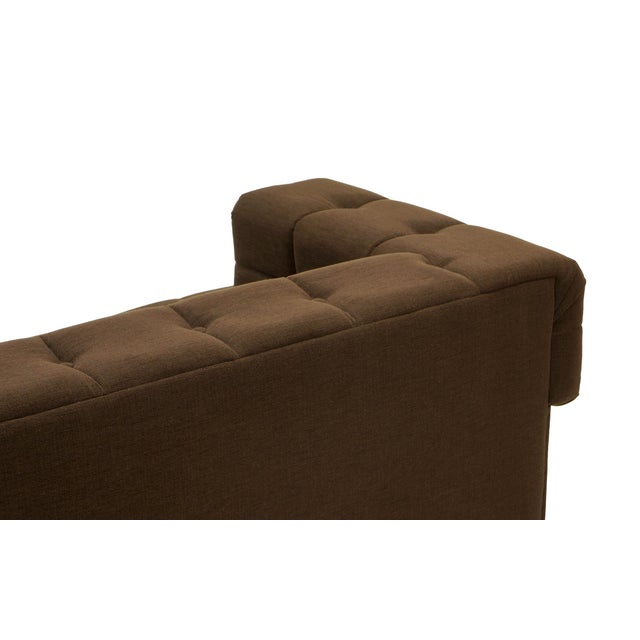1970s Even Arm Tufted Chesterfield Sofa, 1970s, New Upholstery, Very Comfortable For Sale - Image 5 of 7