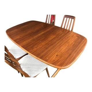 1950s Mid Century Modern Skovby Mobelfabrik Teak Dining Table For Sale