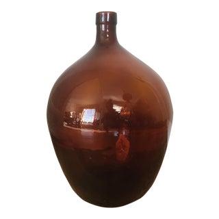 Demijohn Amber Glass Vase