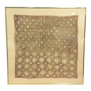 1970s Vintage Mid Century Framed Textile For Sale