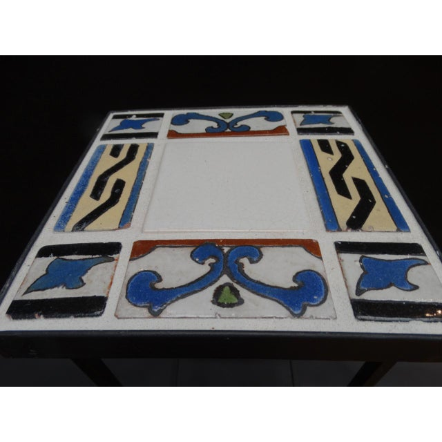 1920s 1920s Spanish Revival Malibu Tile Side Table For Sale - Image 5 of 6