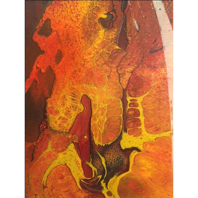 Mid-Century Modern Mid-Century Abstract Painting For Sale - Image 3 of 5