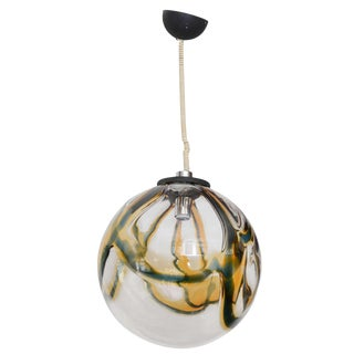 Gigantic Mazzega Murano Globe Hanging Light