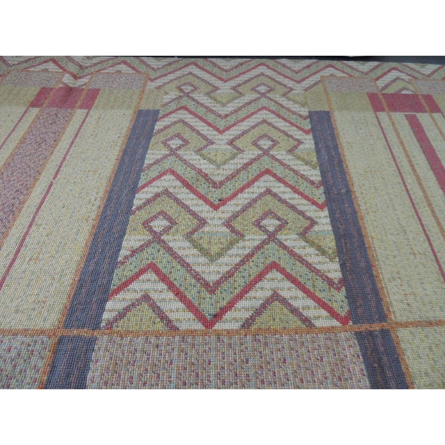 Frank Lloyd Wright Frank Lloyd Wright Arts & Crafts Inspired Rug - 8′6″ × 11′2″ For Sale - Image 4 of 8