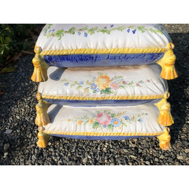 1960s Vintage Ceramic Garden Seat For Sale - Image 9 of 13