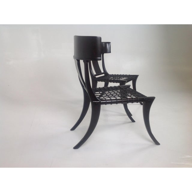 Klismos Style Dining Chairs in Expresso Finish- Pair For Sale In San Diego - Image 6 of 7