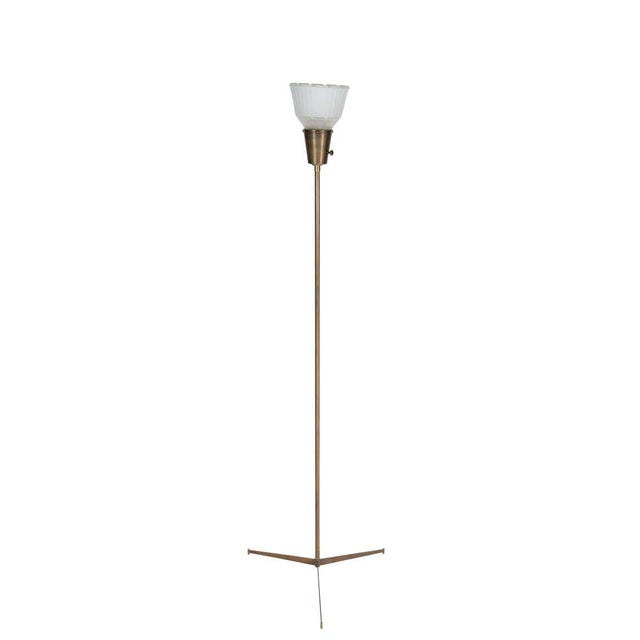 Modern Customizable Anders Brass Tripod Floor Lamp For Sale - Image 3 of 3